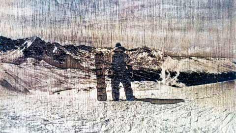 grabado laser fotografía madera