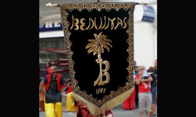 Bordado estandarte Escuadra especial Beduinas fiestas moros y cristianos Villena