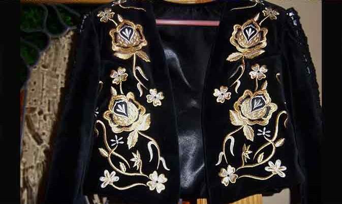 bordado chaqueta comparsa contrabandista fiestas villena