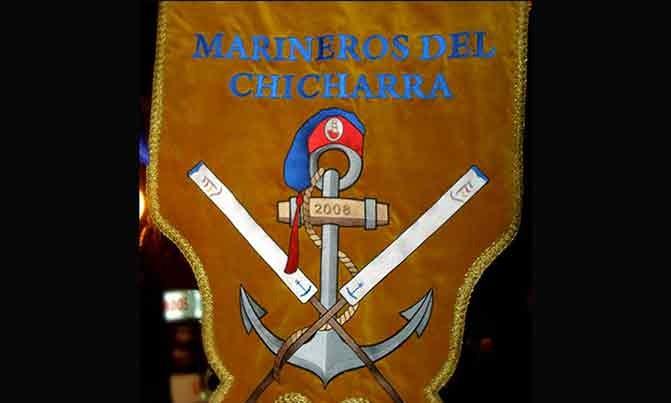 Bordado estandarte Escuadra especial Marineros del Chicharra fiestas moros y cristianos Villena
