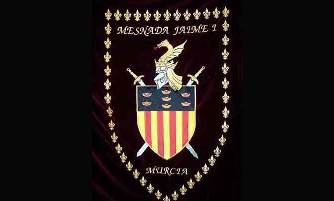 Bordado estandarte Mesnada Jaime I Murcia