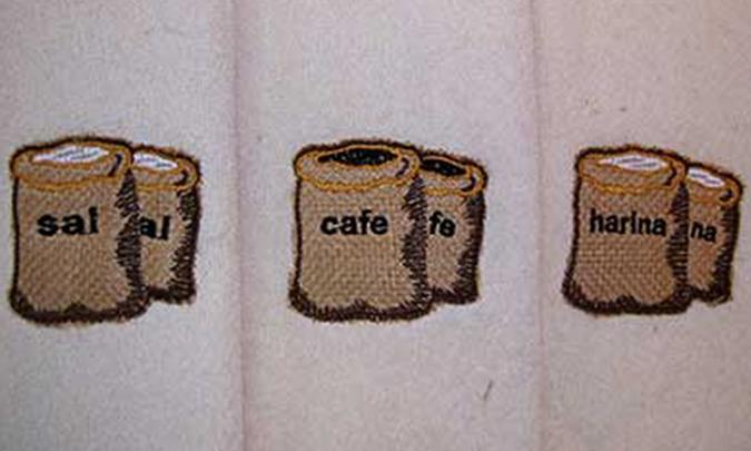 Bordados paños de cocina Bordados Villena
