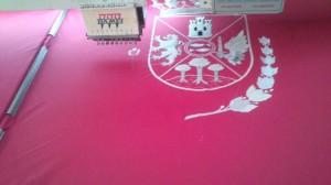 bordado bandera grupo musical Villena