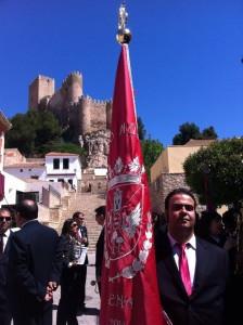bandera grupo musical Villena entrada de bandas Almansa