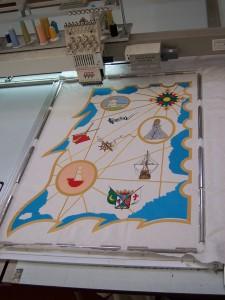 Bordado estandarte comparsa marinos corsarios fiestas moros y cristianos villena bordados villena