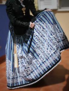 bordado falda traje villenera fiestas villena trajes regionales